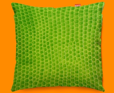 Animal Skin Green Snake Funky Sofa Cushion 45x45cm