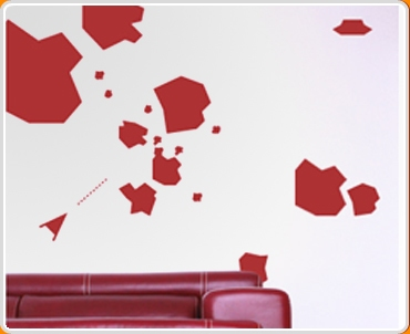 Asteroid Set Wall Sticker