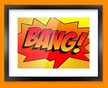 BANG Comic SFX Framed Print