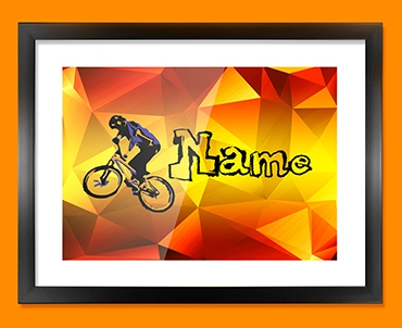 BMX Personalised Childrens Name Framed Print
