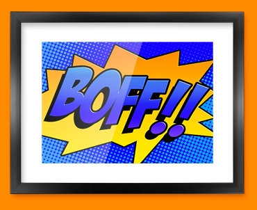 BOFF Comic SFX Framed Print