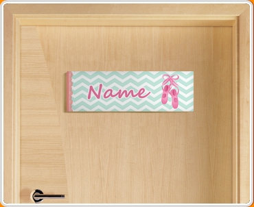 Ballerina Personalised Name Children's Bedroom Door Sign