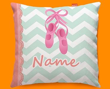 Ballet Personalised Childrens Name Sofa Cushion