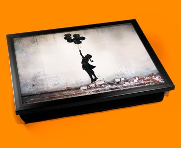 Banksy Balloons Cushion Lap Tray