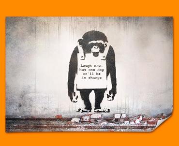 Banksy Chimp Poster