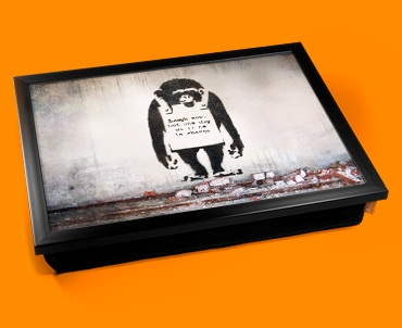 Banksy Chimp in Charge Cushion Lap Tray