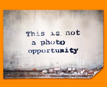 Banksy Photo Opportunity Poster