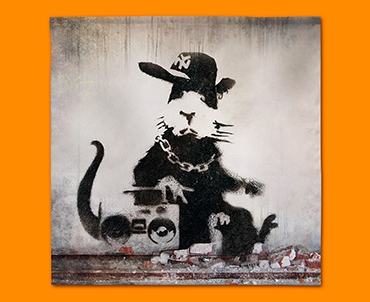 Banksy Rap Rat Napkins (Set of 4)