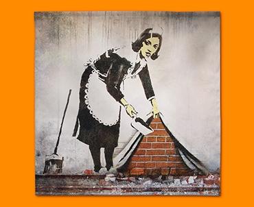 Banksy Street Maid Napkins (Set of 4)