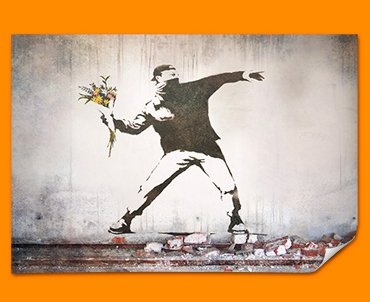 Banksy Thug Flower Poster