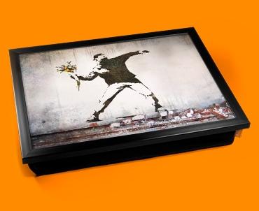 Banksy Thug Flowers Cushion Lap Tray
