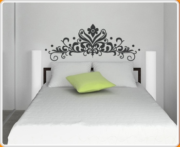 Baroque Headboard 2 Wall Sticker