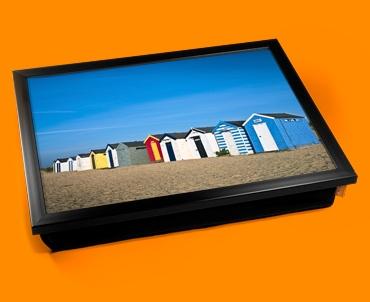 Beach Huts Cushion Lap Tray