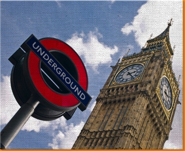 Big Ben Under Ground Canvas Art Print