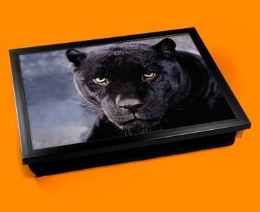 Black Cat Cushion Lap Tray