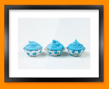 Blue Cupcakes Framed Print