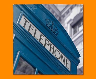Blue Telephone Box Napkins (Set of 4)