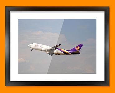 Boeing 747 Plane Framed Print
