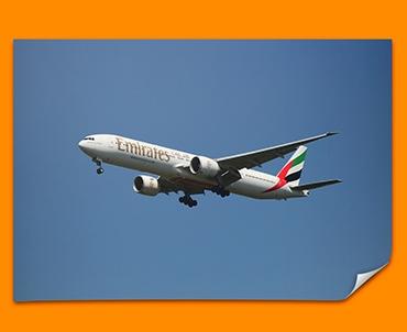 Boeing 777 Plane Poster