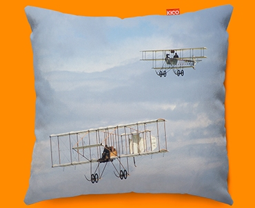 Bristol Boxkite and Avro Triplane Plane Sofa Cushion