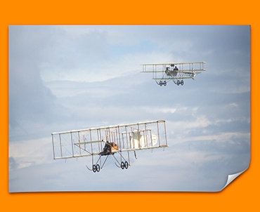 Bristol Boxkite and Avro Triplane Plane Poster