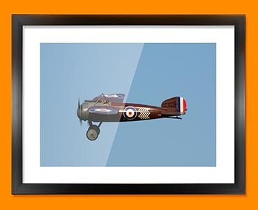 Bristol M1C Plane Framed Print