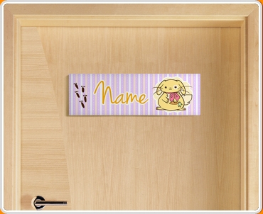 Bunny Personalised Name Children's Bedroom Door Sign