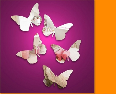 Butterflies Mini Mirror