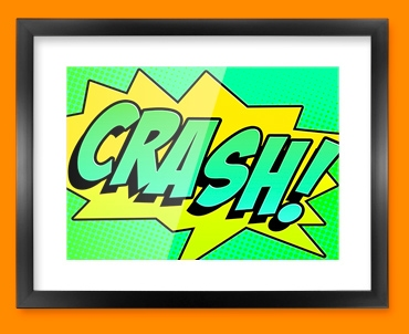 CRASH Comic SFX Framed Print