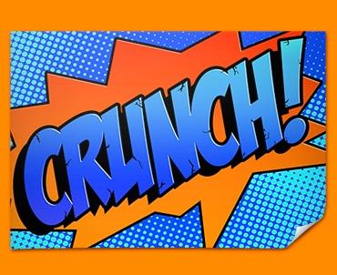 CRUNCH Comic SFX Poster