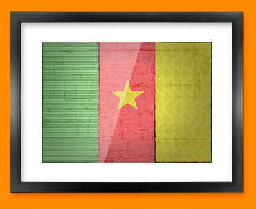 Cameroon Flag Framed Print