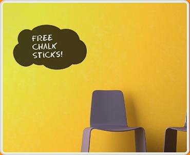 Cloud Chalkboard Wall Sticker