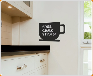 Coffee Cup Chalkboard Wall Sticker