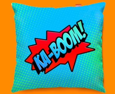 Comic KA-BOOM Funky Sofa Cushion 45x45cm