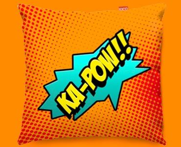 Comic KA-POW Funky Sofa Cushion 45x45cm