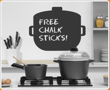 Cooking Pot Chalkboard Wall Sticker