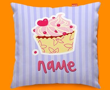 Cupcake Personalised Childrens Name Sofa Cushion