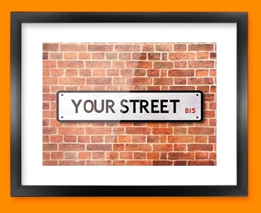 Custom UK Street Sign Framed Print