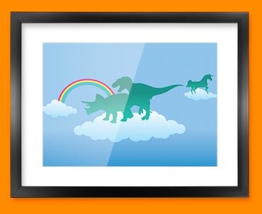 Dino Heaven Framed Print
