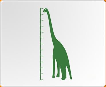 Dinosaur Height Chart Wall Sticker