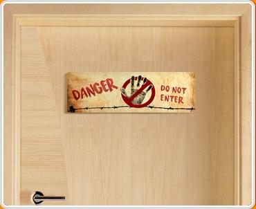 Do Not Enter Children's Bedroom Door Sign