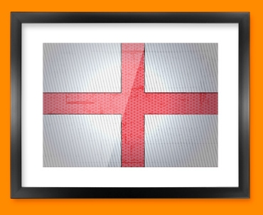 England Flag Framed Print