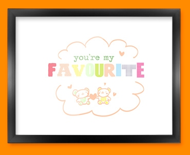 Favourite Typography Framed Print