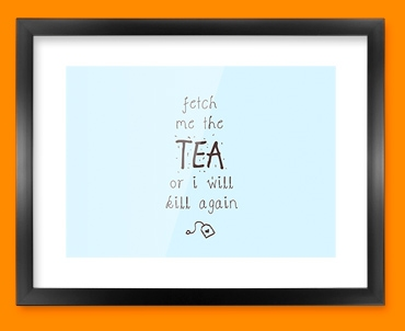 Fetch the Tea Typography Framed Print