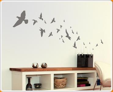 d0d1f2d0bf Flying Birds Wall Sticker