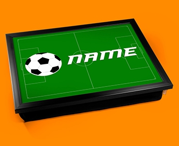 Football Personalised Childrens Name Cushion Lap Tray