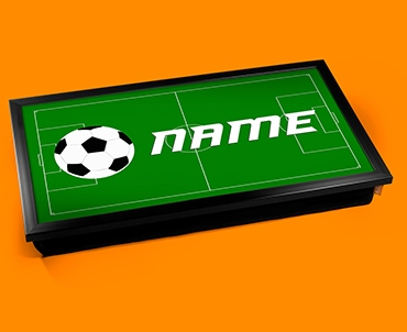 Football Personalised Childrens Name Cushioned Laptop Lap Tray