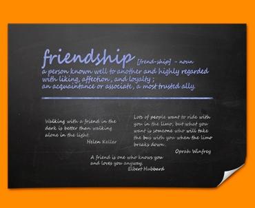 Friendship Definition Poster