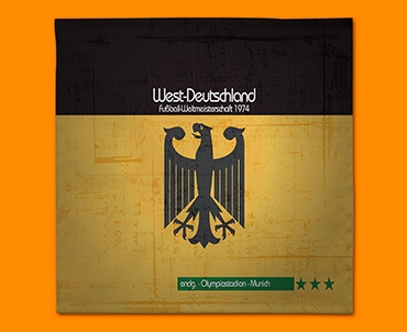 Germany 74 Flag Napkins (Set of 4)