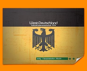 Germany 74 Flag Poster